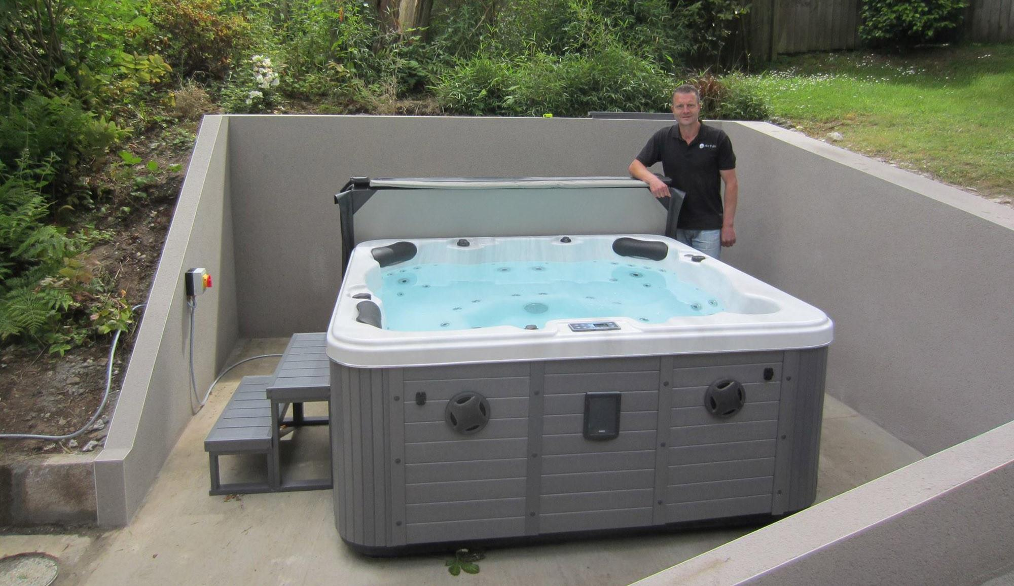 Delivery and Installation - Lux Hot Tubs   Hot Tub showrooms in ...